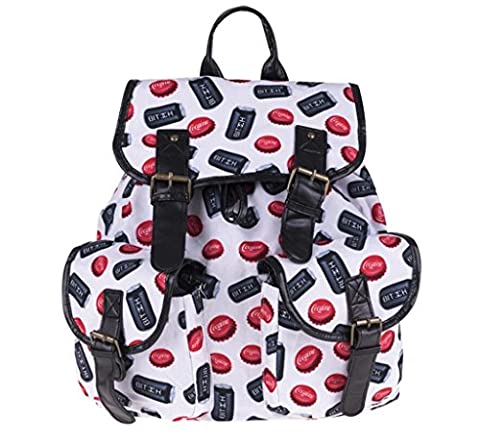SHFANG Double Pocket Rucksack Retro Printing Cap Cup Kinder Taschen Tourismus Schule Große Kapazität (Leder Oxford Cap)