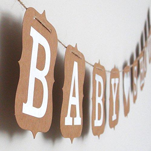 aby Shower EinsSein® 10x13 Kraftpapier 3m Taufe Babyshower Schilder braun Schriftzug Party (Happy Halloween Foto-karten)