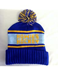 Howies Official Retro Beanie Hat Oversized Bobble Ski Hat Pom Pom blau