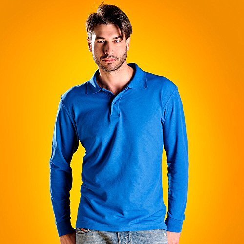 "Polo-Shirt ""Mario"" langarm/Herren/MYDAY/Langarm/NEU Rot"