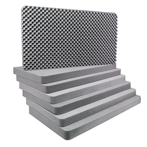 Schaumstoff 7-teilig Würfelschaum Transportschutz - für Aluminiumbox 140 Liter