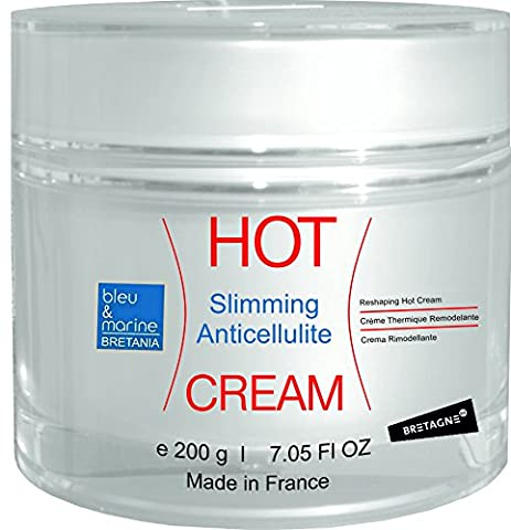 HOT CREAM Professional Triple Action Formula 200 ml ● Slimming Fat Dispersing, Anti Cellulite Detox Hot Cream with Algae, Coffee, Plants Extracts and Essential Oils ● Slims & Reduces Fat Appearance - Muscle Rub Cream