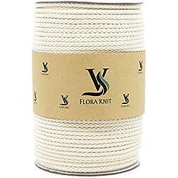 Cordón de macramé de algodón natural