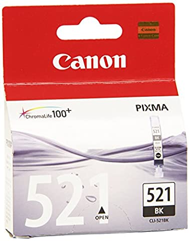 Canon - CLI-521 Bk - Cartouche d'encre d'origine -