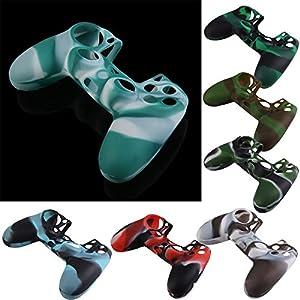 Demiawaking Camouflage Silikon Gummi Kasten Haut Hüllen Abdeckungs Schutz für PS4 Controller
