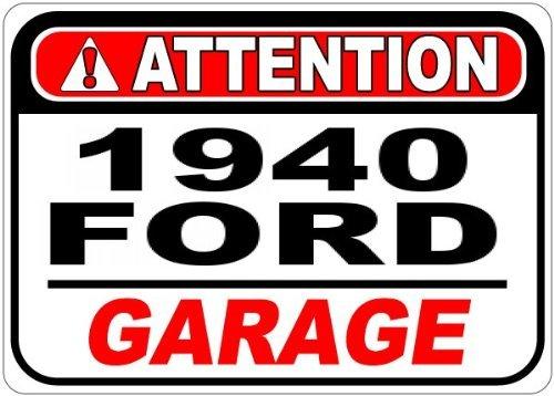 Metall Schilder 194040Ford Aufmerksamkeit Aluminium Garage Schild–30,5x 45,7cm (Antike Bier Zeichen)