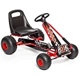 Best Go Karts - SK8 Zone Childrens Kids Red Ride On Pedal Review