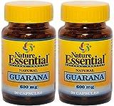 Guarana 600mg 50 Cápsulas. Nature Essential (Pack 2u.)