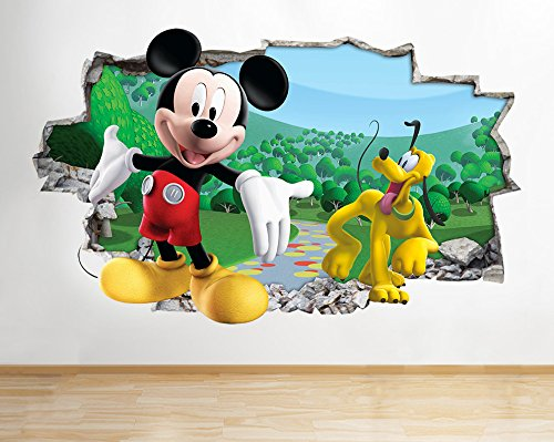Vinilo de Mickey Mouse y Goofy