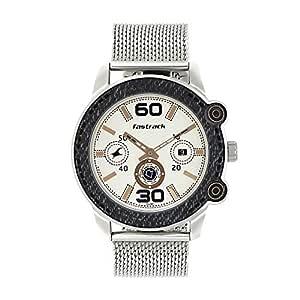 Fastrack Denim Analog Off-White Dial Men's Watch-3188KM02
