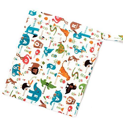 Eule und Giraffe YeahiBaby 2 St/ück Baby Windeltasche Rei/ßverschluss Wickeltasche Nasstaschen wasserdichter Windelbeutel waschbar