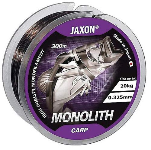 Jaxon Angelschnur Monolith CARP 0,25-0,35mm 300m Spule Monofile Karpfenschnur (0,325mm/20kg)