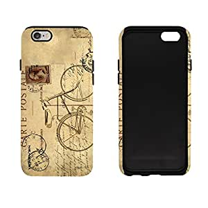 iSweven Carte_Postale design printed matte finish 2in1 back case cover for Apple iPhone 6S Plus