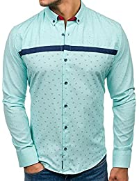 BOLF Chemise Casual – avec Manches Longues – Casual – Bouton – Homme e92db33e30b