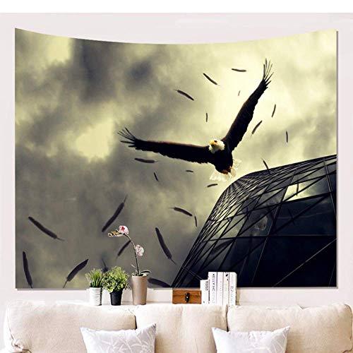 xiaomingshangdian Adler Muster Dekor Tapisserie Wandbehang Tagesdecke Bettwäsche Wohnheim Abdeckung Home Wandkunst Raum Teppich [Zubehör senden] - Adler-raum-dekor