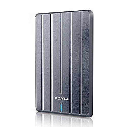ADATA HC660 1TB Ultraschlank, kratzfest Externe Festplatte, Metallisch Design, USB 3.0 (AHC660-1TU3-CGY)