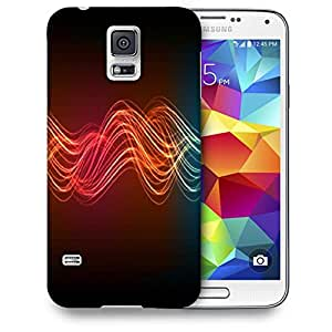 Snoogg Neon Lines Printed Protective Phone Back Case Cover For Samsung S5 / S IIIII