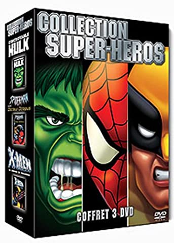 Collection Super-Héros 3 DVD : L'incroyable Hulk / Spider-Man contre Docteur Octopus / X-men, la légende de Wolverine