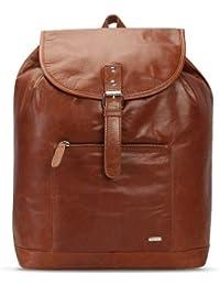 Brune Tan 100% Genuine Leather Laptop Backpack For Men