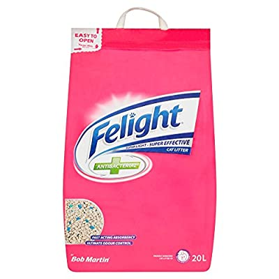 Felight Anti-Bacterial Cat Litter Easy Tear, 20 Litre