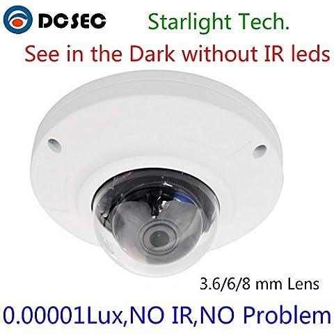 Full Color Image Starlight Vandalproof Dome cctv Camera 1/3