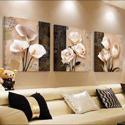 Pingofm El salón es moderno y minimalista, y tres de la animación sofá colgado en la pared de fondo frescos pintura cártamo pequeño dormitorio sin animación de cuadros Pintura decorativa,40*40,F