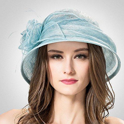 Maitose® Cambric Fleurs Eglise Lanceur Bonnets femme Bleu