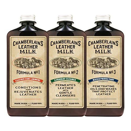 Chamberlain's Leather Milk - Set de restauración de cuero - Limpiador, acondicionador...