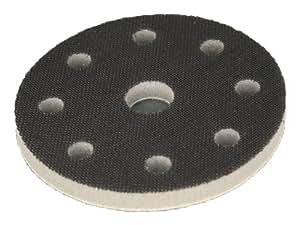 Interface mousse souple système velcro - pour plateau de ponçage 125mm avec 8+1 trous (Festool) - Améliore la finition, parfaitement pour les formes même complexes - DFS