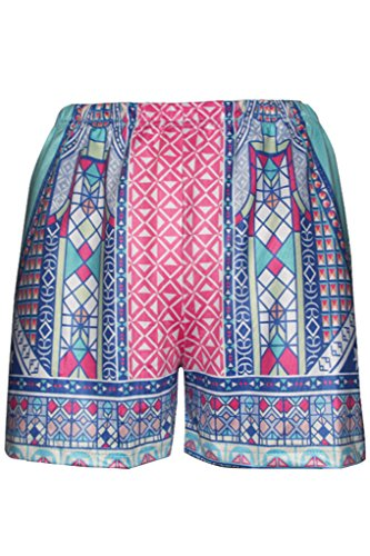 Hungo Damen Beach Shorts Sommer High Waist Hot Pants Kurz Hose Badeshorts Rot