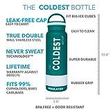 The Coldest Water Bottle 21 Oz, tazza di corsa in acciaio inossidabile a vuoto isolata - Ghiaccio a freddo fino a 36 ore / caldo 13 ore a doppia parete a blocchi -