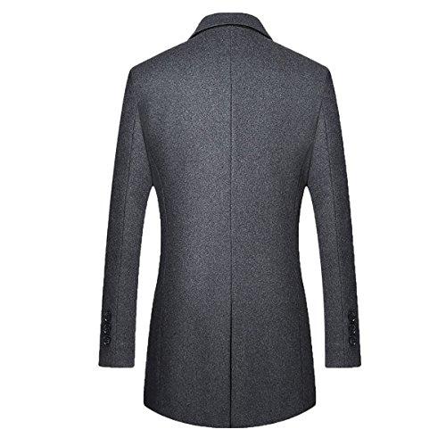 Herren Gesteppte Wollmishcung Mantel Slim Fit von YOUTHUP Grau