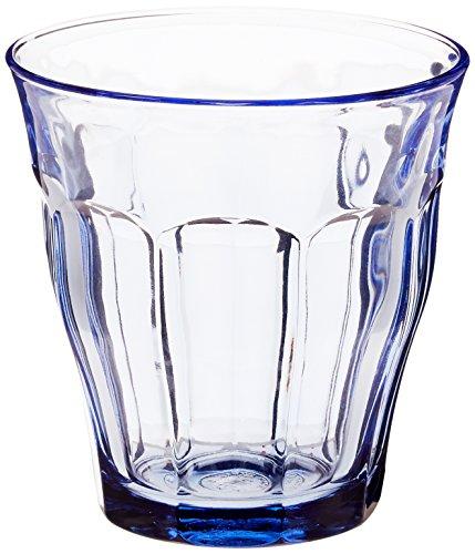 Duralex 1027BB06/6 Vasos Picardie Blue 25 cl, pack de 6, 0.25 litros, Cristal