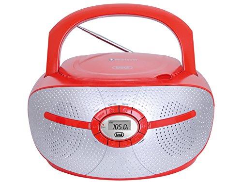 Trevi 0CM55202 Digital Gris, Rojo Sistema estéreo portátil - Radio CD (Digital, FM,PLL, Jugador, LCD, Gris, Rojo, AC/Batería)