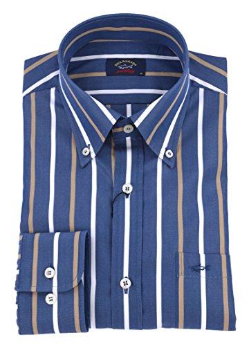 Paul & shark uomo camicia button down righe blu avio p18p3202 023-26321 - 40