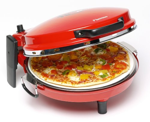 DLD 9016 Pizzaofen Pizzamaker Alfredo mit Steinbackfläche und Bratpfanne