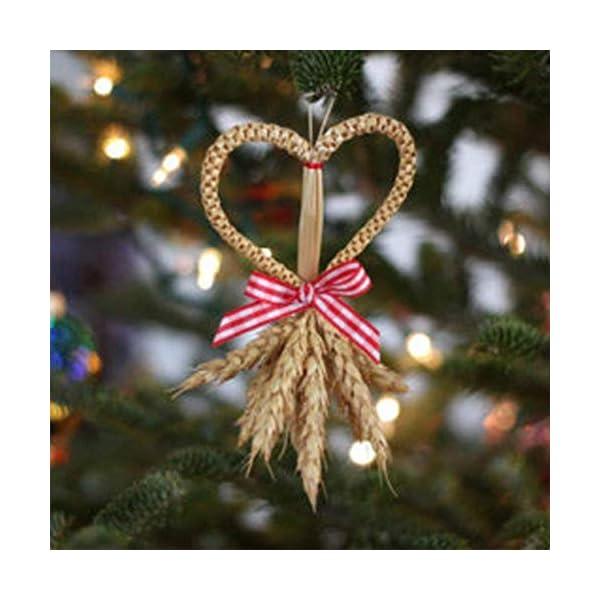 LeKing-Decoración del ramo del oído del trigo 100pcs, plantas de jardín, orejas naturales del trigo del color primario…