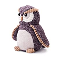 Aurora World Fabbies Owl Plush Toy (Small, Brown/Light Brown/Grey/White)