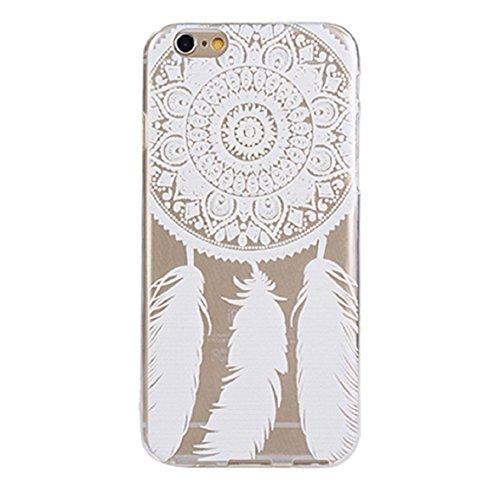 Culater® für iPhone 6 charmant blume Muster Schutzhülle weich TPU Tasche weiß neu case (Gras) Traumfänger
