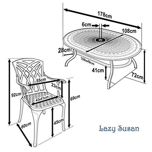 Lazy Susan – JESSICA Gartenmöbel Set - 7