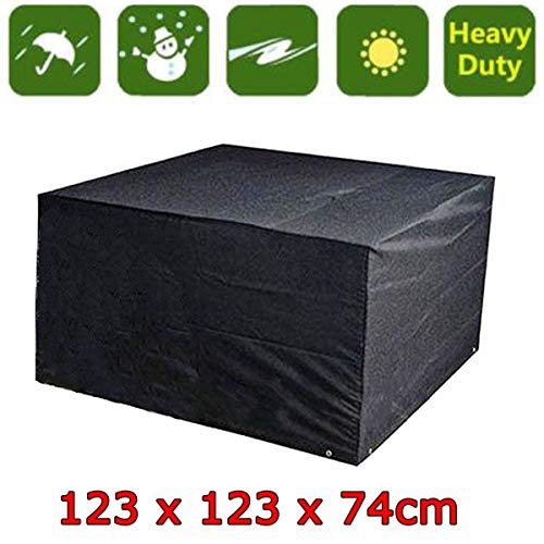 Bigbutterfly Housse de protection table rectangulaire de jardin Haute qualité waterproof 123 x 123 x 74 cm