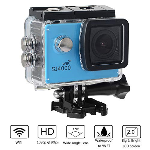 SHENGY WiFi-Sportkamera, HD-Unterwasser-Extreme-Action-Cam, 1080P- und 12-MP-Luftbild-DV, 170 ° Betrachtungswinkel, 4X digitaler Zoom, bestes Reisegeschenk im Sommer,B
