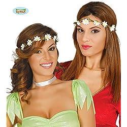 FIESTAS GUIRCA Tiara Hippie Hippie con Flores pequeñas