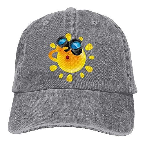 Presock Sun Binoculars Denim Hat Adjustable Womens Flag Baseball Caps Low-profile Wall Mount Rack