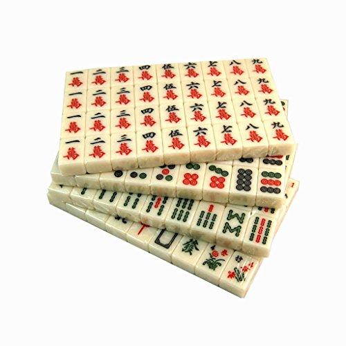 LI JING SHOP - Großes Haus Hand Reiben Kristall Mahjong Acryl Licht Gelb Mahjong Karte Größe: 4.0 * 3.0 * 2.0CM, 4.2 * 3.0 * 2.1CM1 Set von 144 Bettwäsche ( Farbe : Aluminum boxed , größe : L-4.2*3.0*2.1CM )