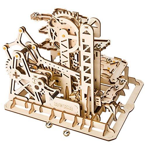 Ljourney 3D Holzpuzzle, DIY Kinder Selbstmontage Schneiden Modell Werkzeug Mechanische Getriebe Spielzeug für Frühe pädagogische Ausbildung - Getrieben Ausbildung
