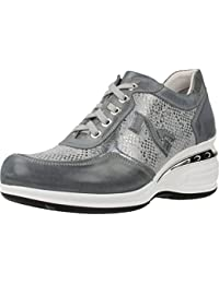 Nero Giardini - Zapatillas de Piel para niño Gris gris, color Gris, talla 25 EU