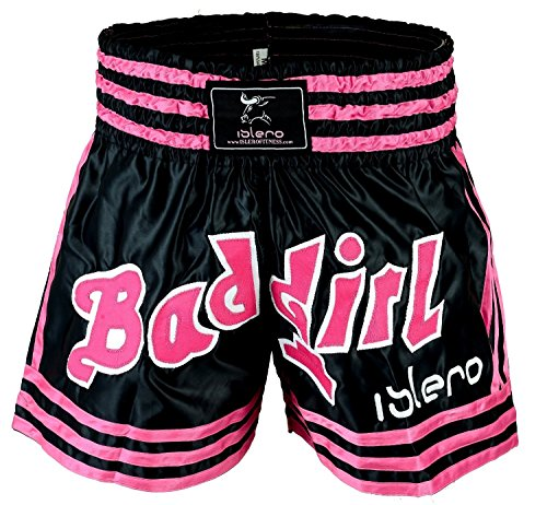 Islero Damen Muay Thai Shorts Mädchen MMA Kick Boxing Martial Arts Frauen Fight Gear - Shorts Boxing Frauen
