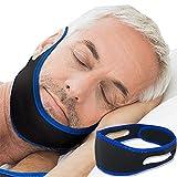 HLDUYIN Anti Schnarchen Kinnriemen Einstellbare Schnarcherstopper Beste Schlafhilfen Kinnstreifen ultradünne 25mm für Frauen Männer Kiefer Unterstützung,66cm