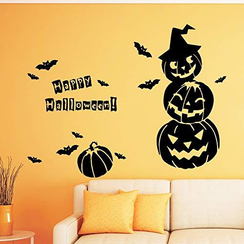 zxddzl Creativo de Halloween Autoadhesivo de Vinilo Arte de la Pared a Prueba de Agua para el bebé Kids Rooms Decor Home Party Decor Decor Wallpaper-57x45cm